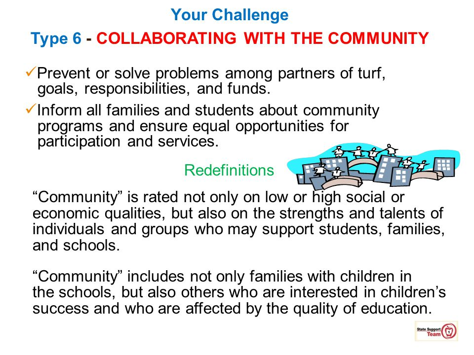 Your Challenge Type 6 - COLLABORATING WITH THE COMMUNITY
