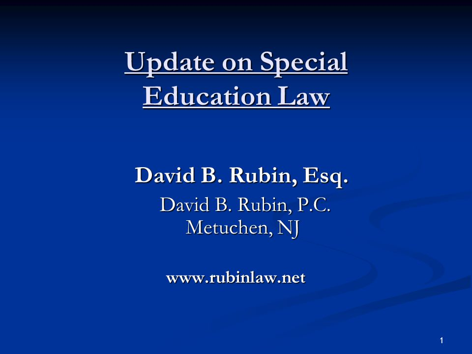 Update on Special Education Law