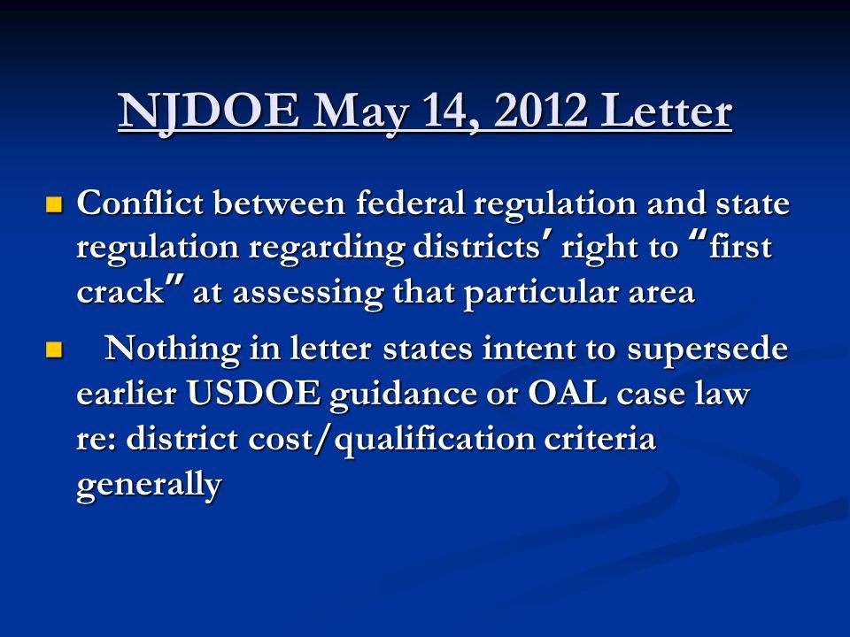 NJDOE May 14, 2012 Letter