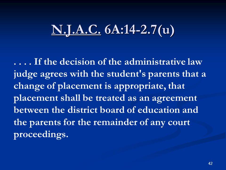 N.J.A.C. 6A:14-2.7(u)