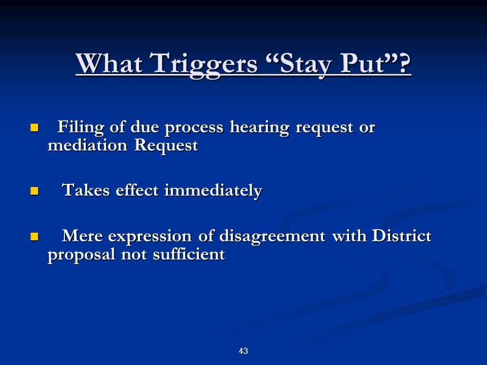 What Triggers Stay Put