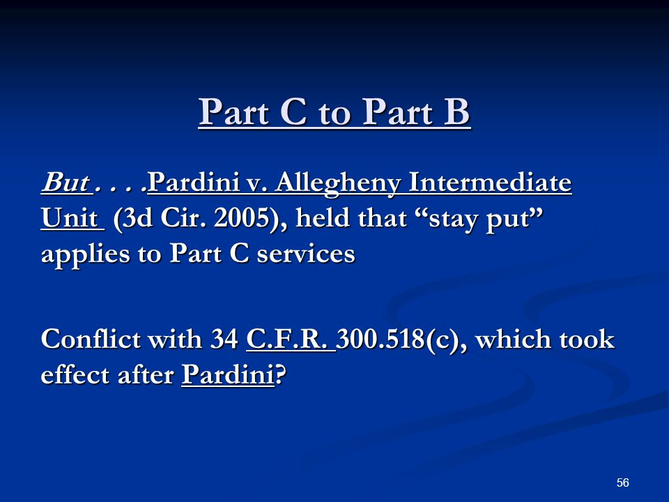 Part C to Part B