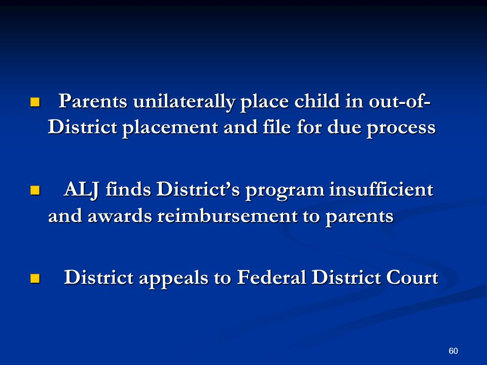 Parents unilaterally place child in out-of-District placement and file for due process