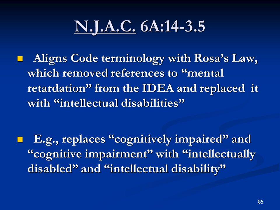 N.J.A.C. 6A:14-3.5