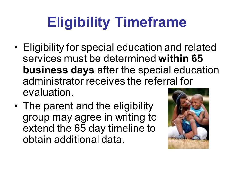Eligibility Timeframe