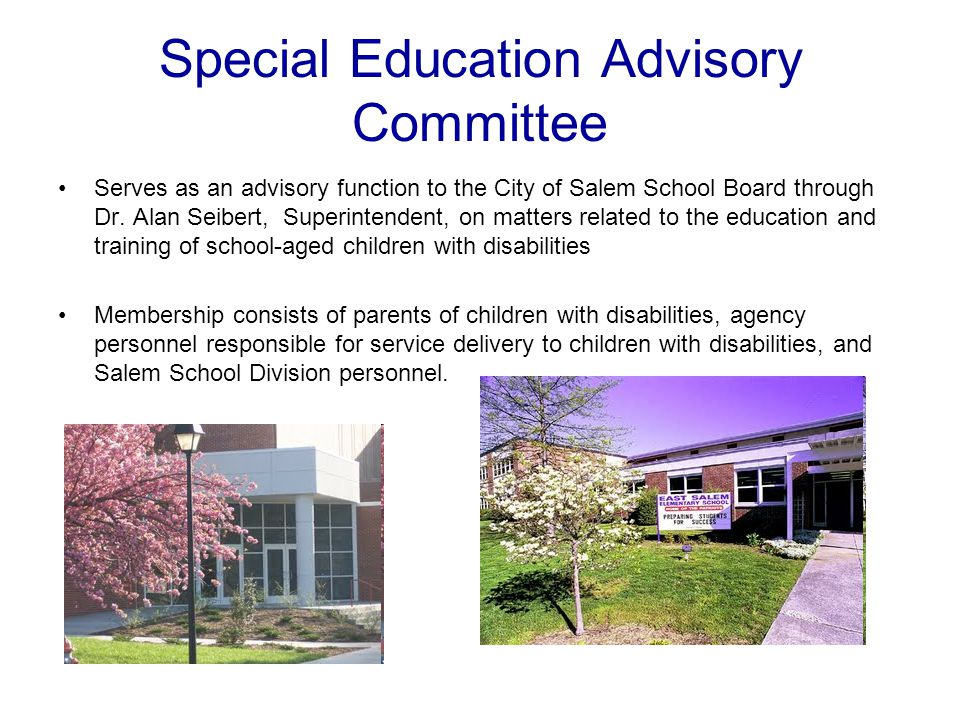 Special Education Advisory Committee