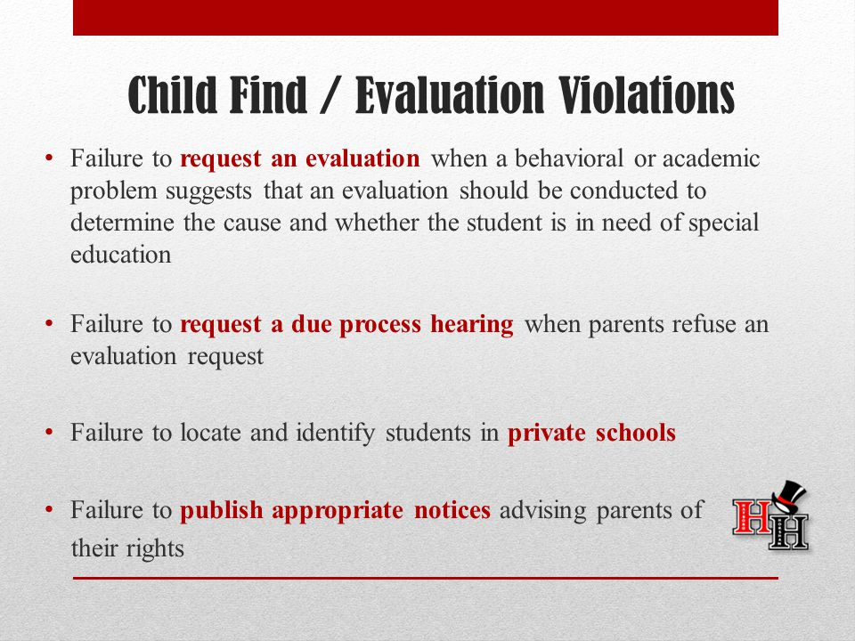 Child Find / Evaluation Violations