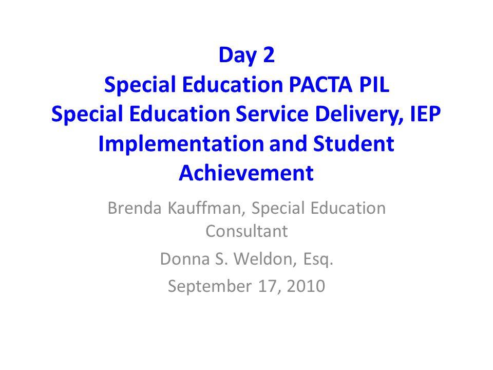 Brenda Kauffman, Special Education Consultant