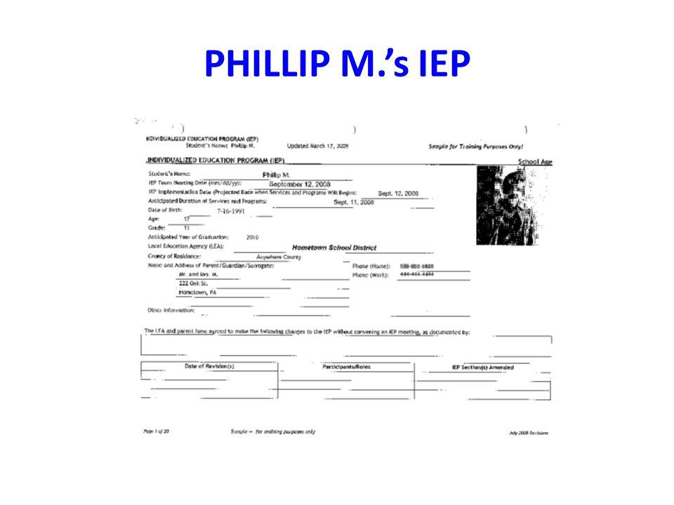 PHILLIP M.'s IEP