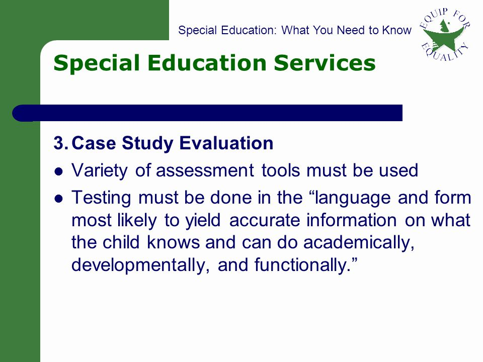 Case Study on Special Education