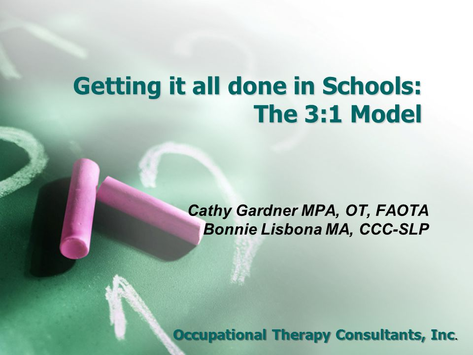 Getting it all done in Schools: The 3:1 Model