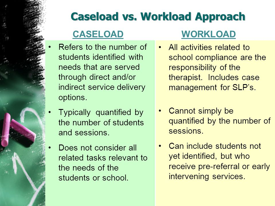 Caseload vs. Workload Approach