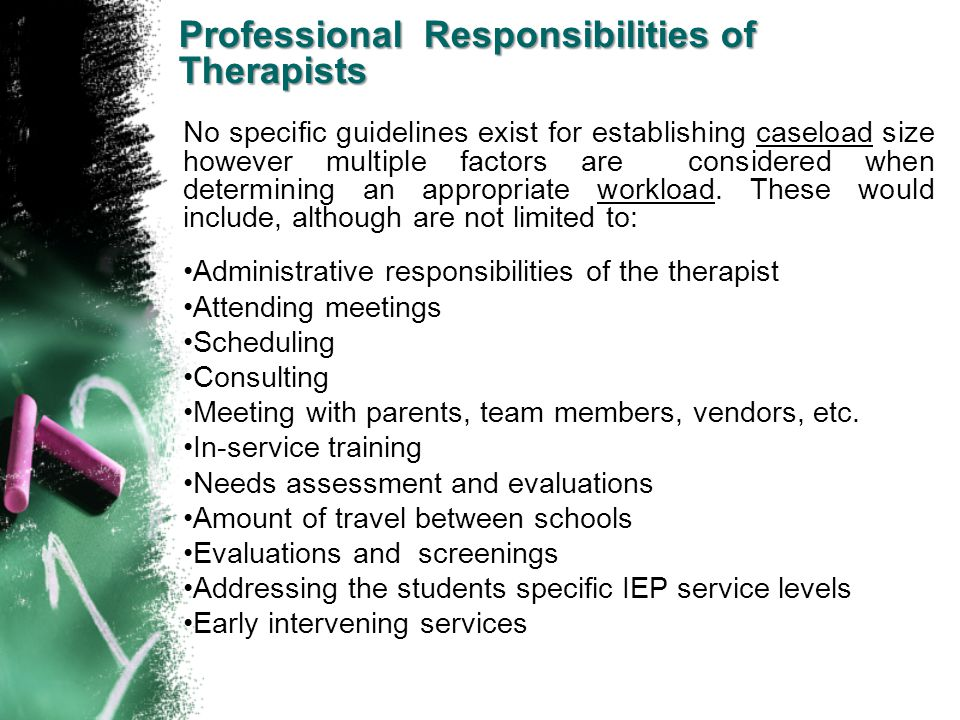 Professional Responsibilities of Therapists