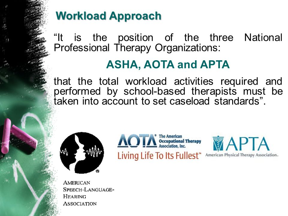 Workload Approach ASHA, AOTA and APTA