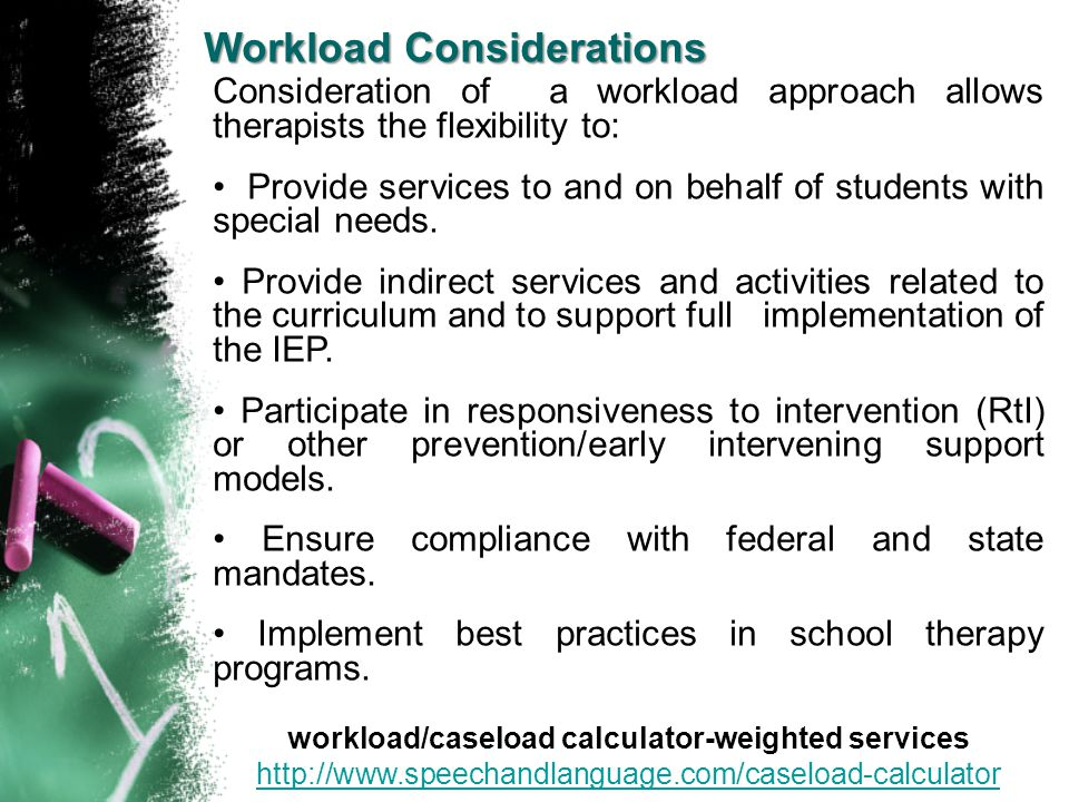 workload/caseload calculator-weighted services