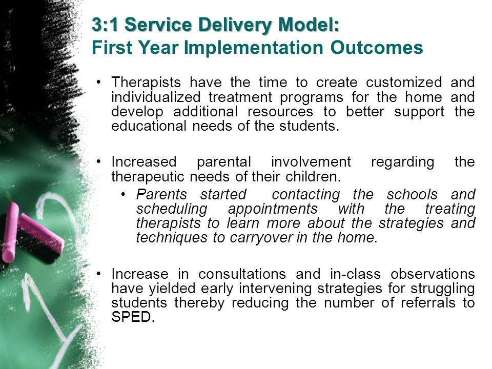 3:1 Service Delivery Model: First Year Implementation Outcomes
