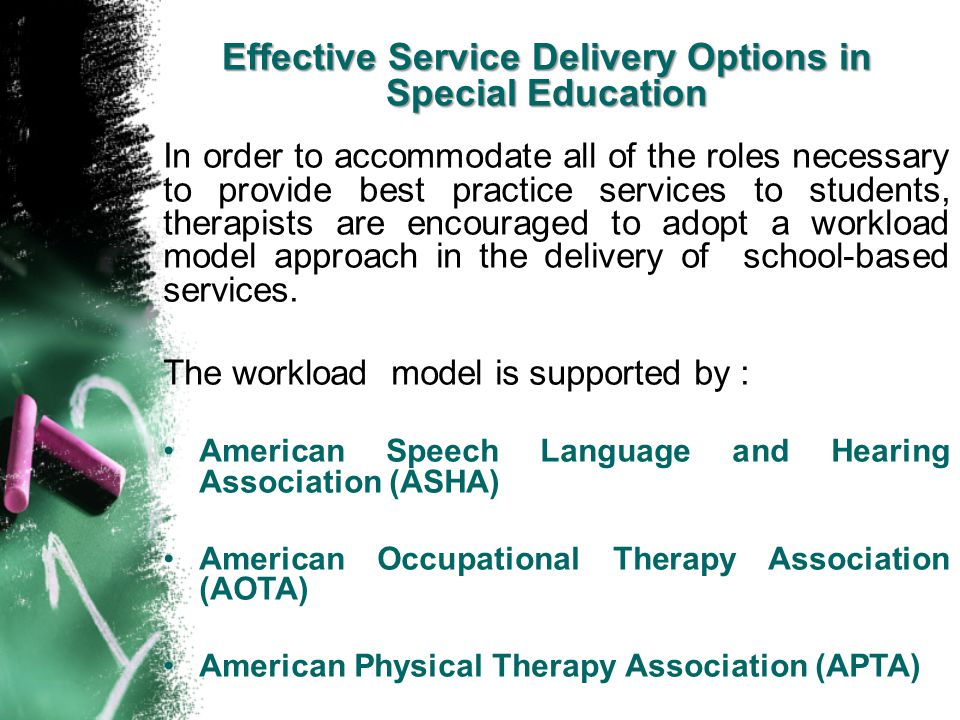 Effective Service Delivery Options in Special Education