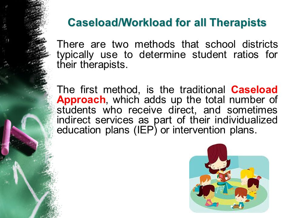 Caseload/Workload for all Therapists