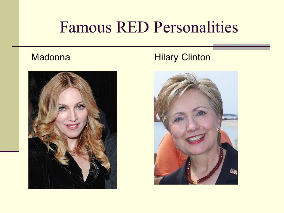 Famous RED Personalities