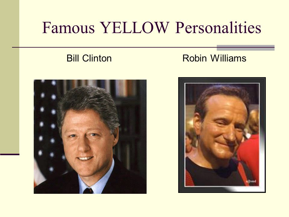 Famous YELLOW Personalities