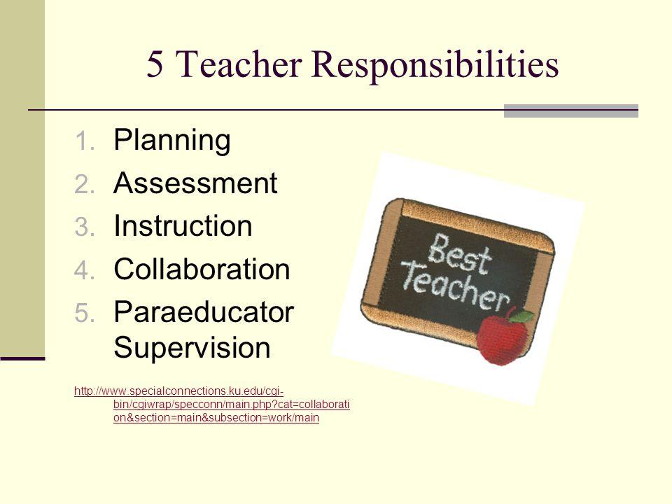 5 Teacher Responsibilities