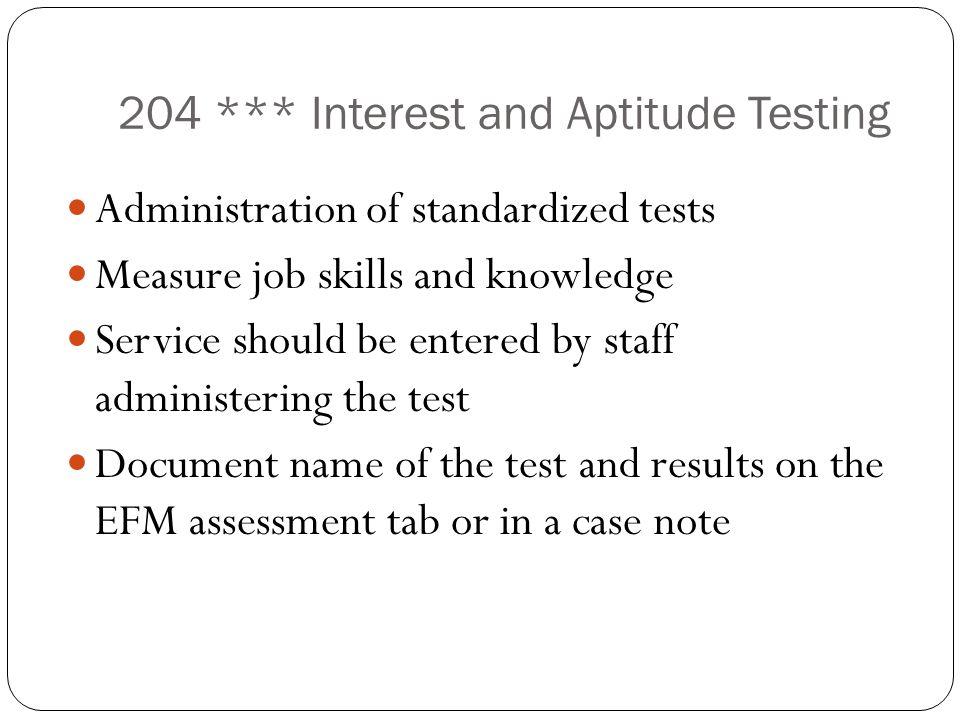 204 *** Interest and Aptitude Testing