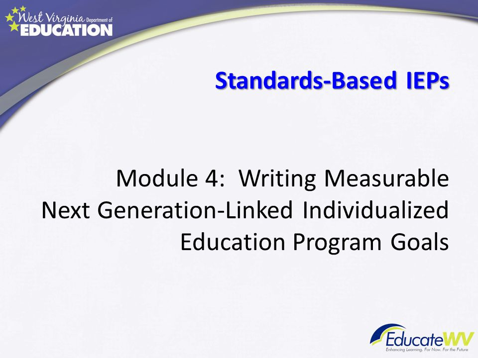 Module 4: Writing Measurable