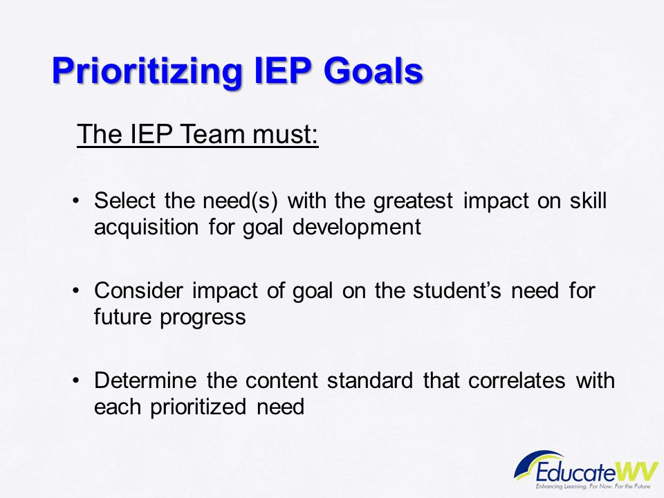 Prioritizing IEP Goals