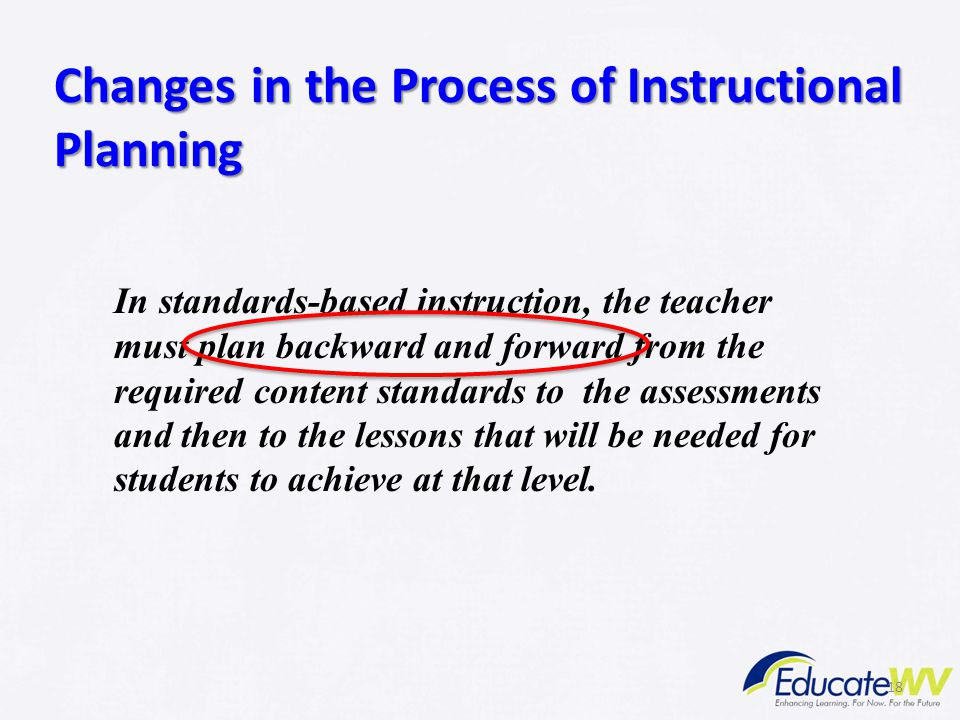 Changes in the Process of Instructional Planning