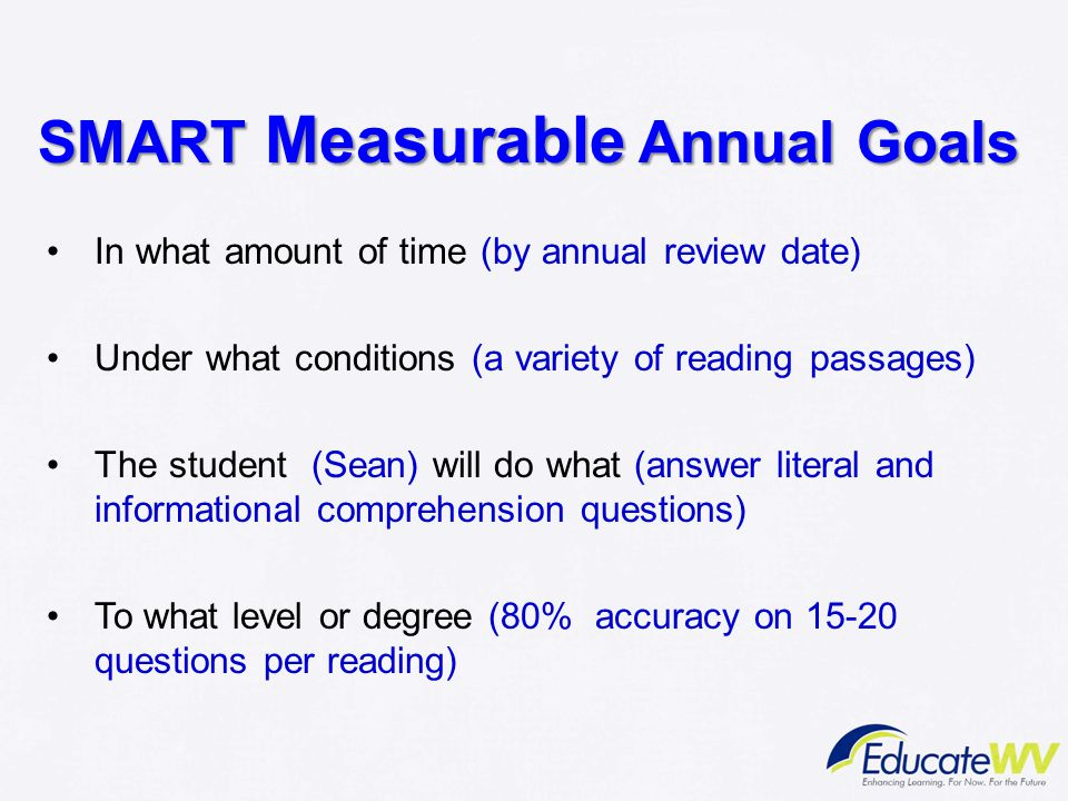 SMART Measurable Annual Goals