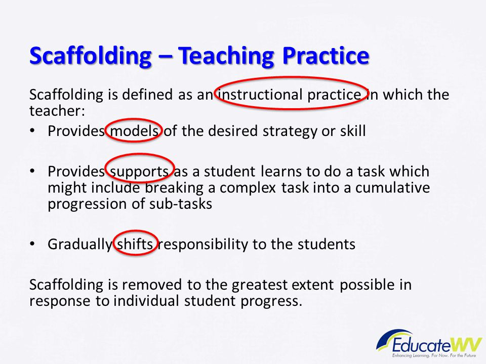 Scaffolding – Teaching Practice