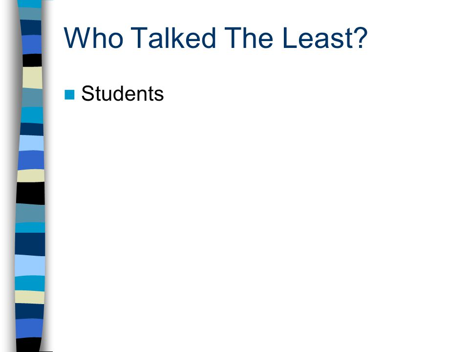 Who Talked The Least Students