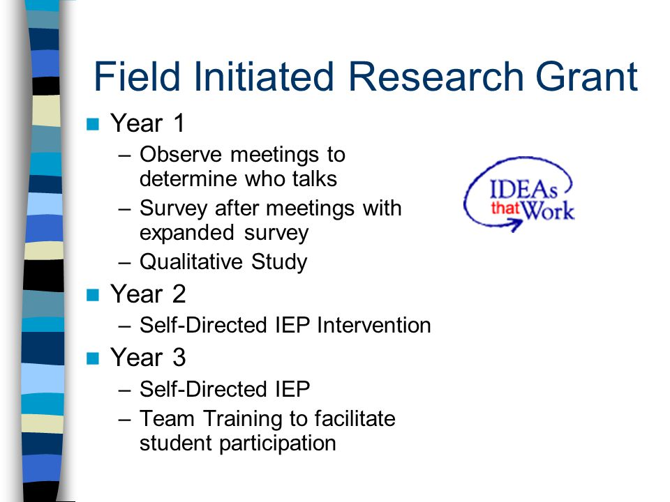 Field Initiated Research Grant