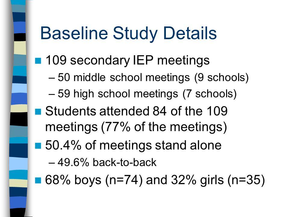 Baseline Study Details
