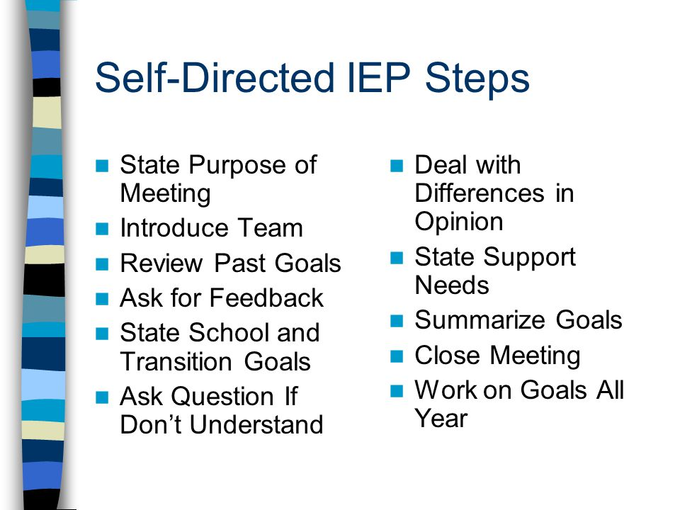 Self-Directed IEP Steps