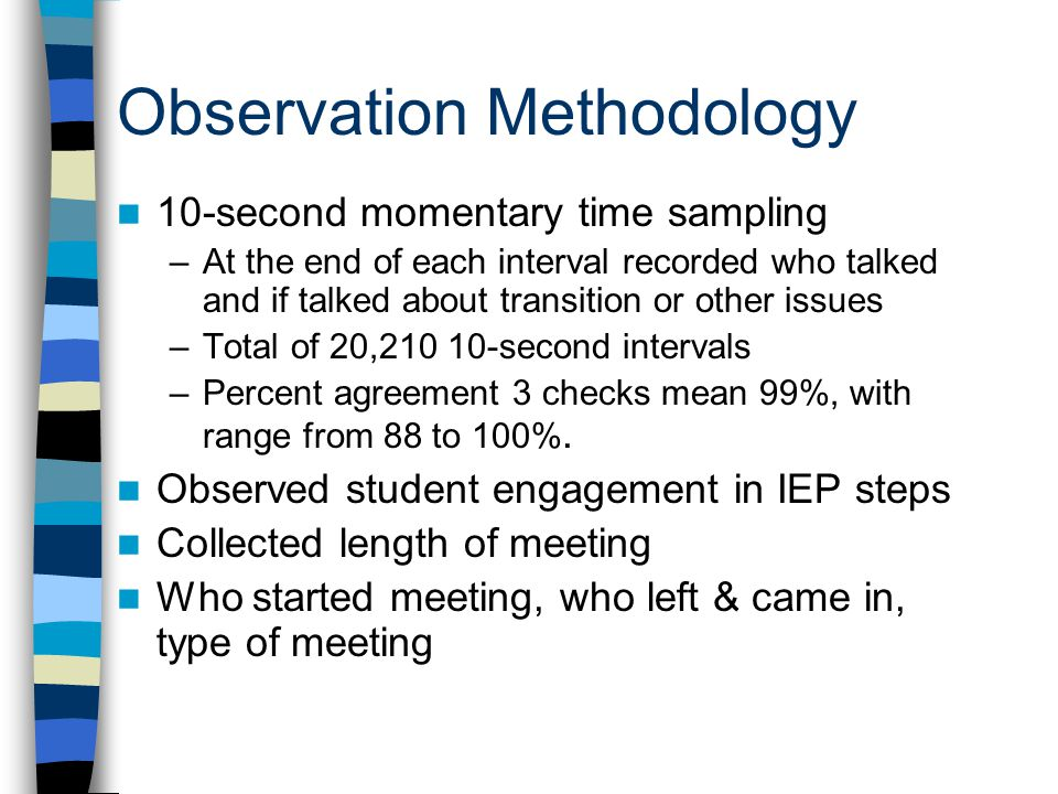 Observation Methodology