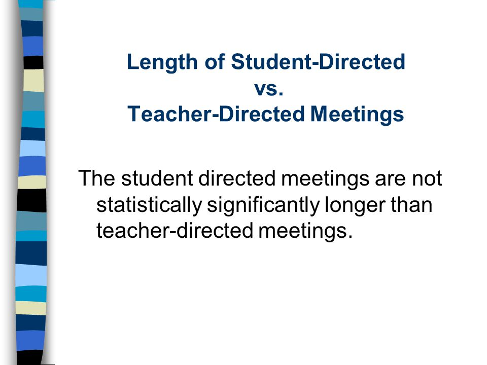 Length of Student-Directed vs. Teacher-Directed Meetings
