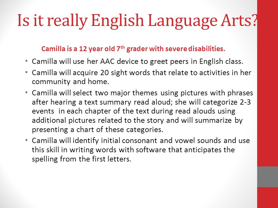 Is it really English Language Arts