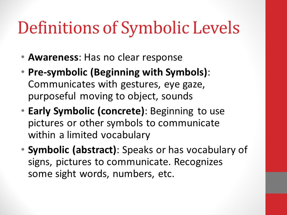 Definitions of Symbolic Levels