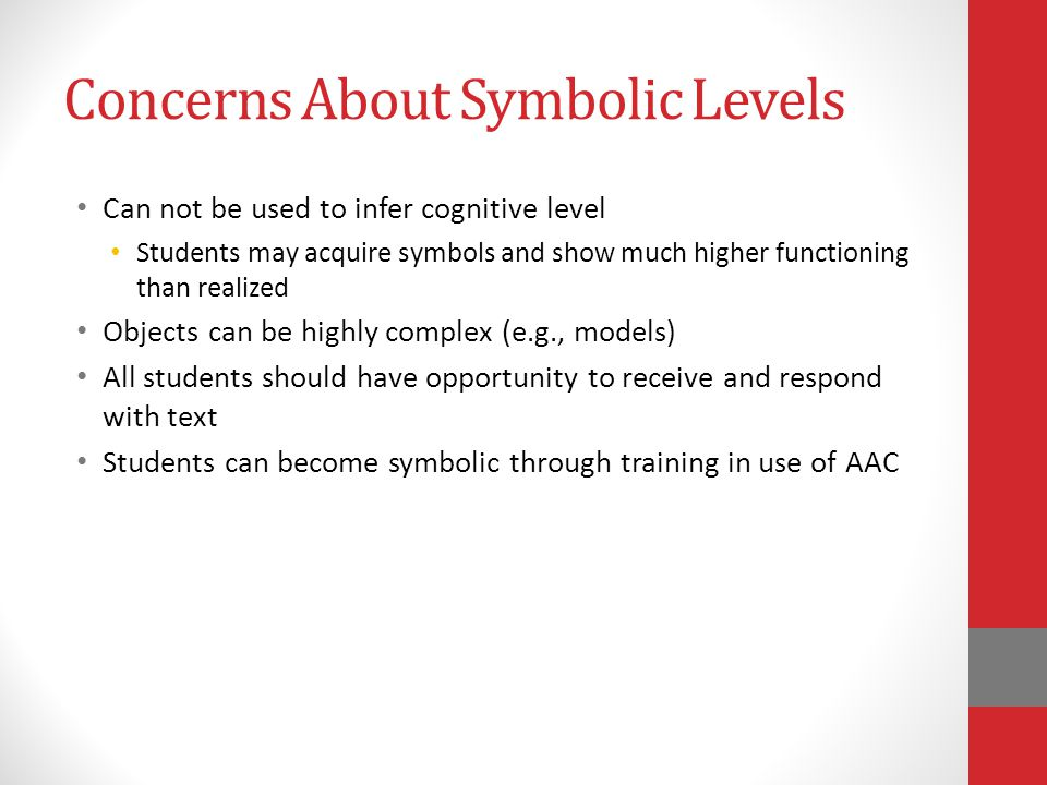 Concerns About Symbolic Levels