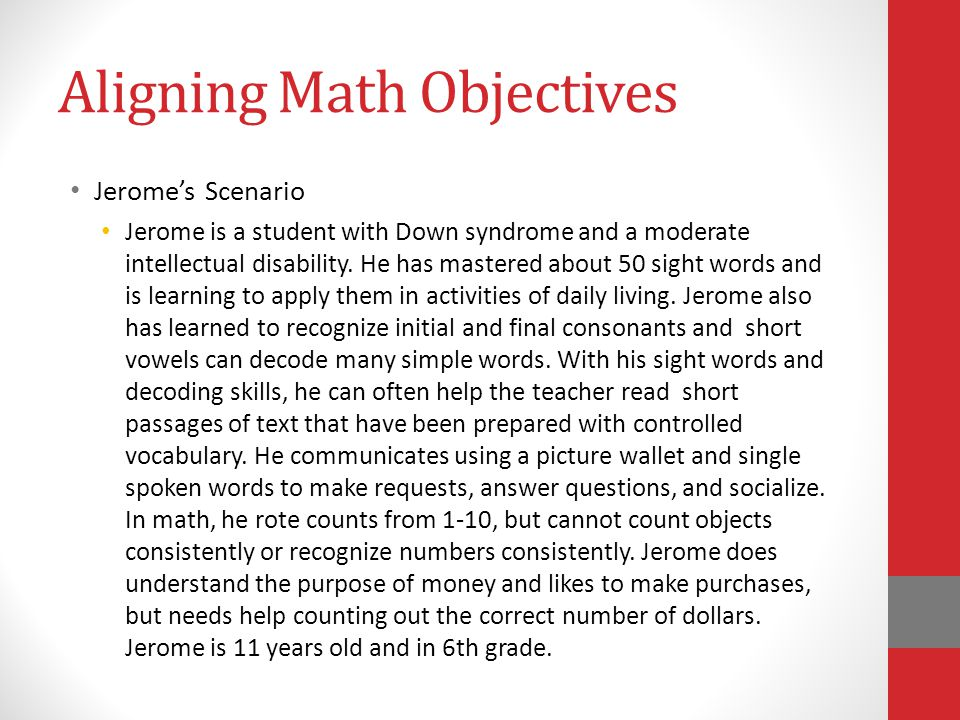 Aligning Math Objectives