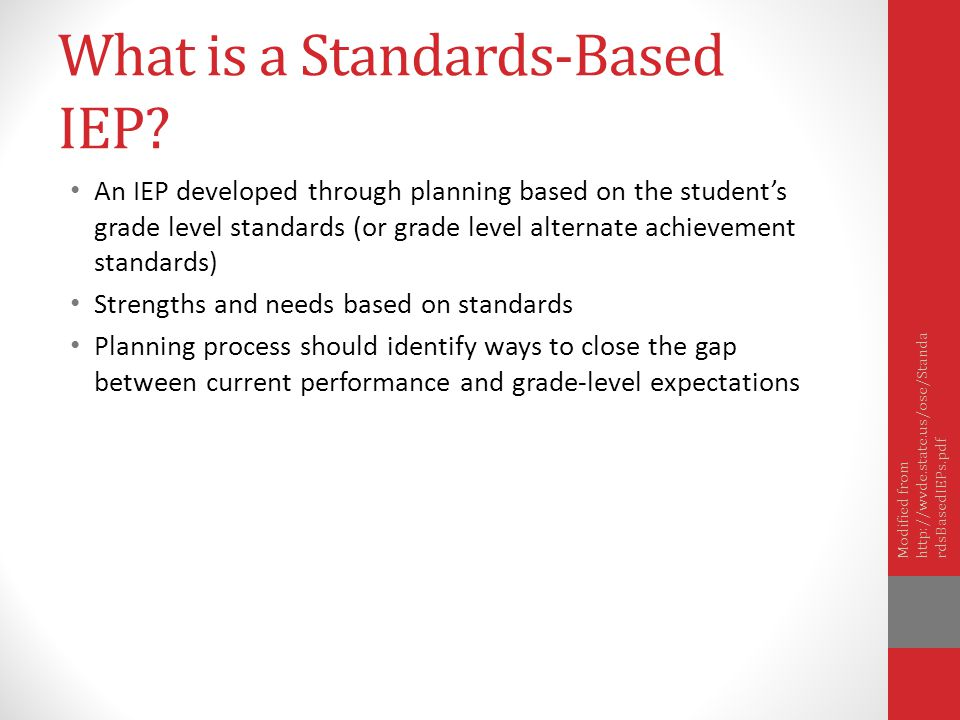 What is a Standards-Based IEP