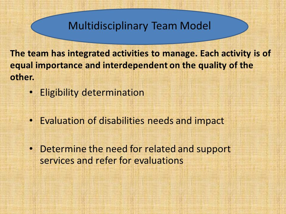 Multidisciplinary Team Model