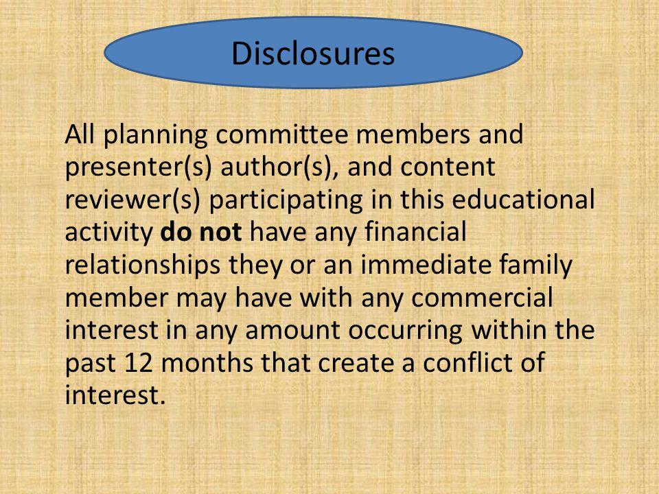 Disclosures Disclosures