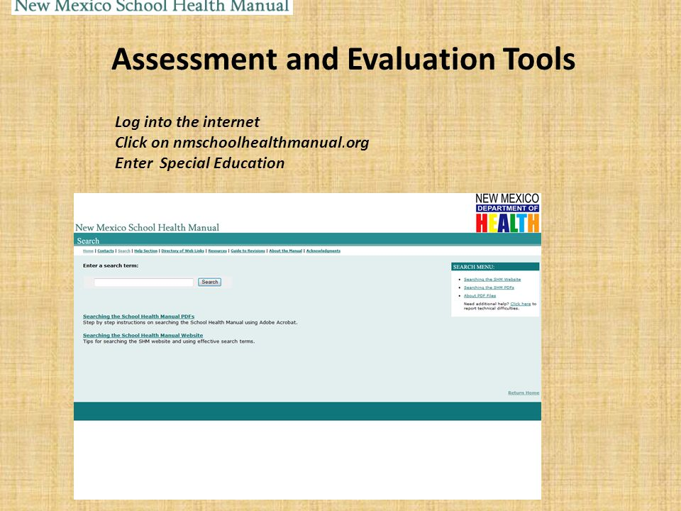 Assessment and Evaluation Tools
