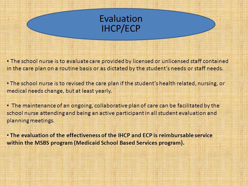 Evaluation IHCP/ECP.