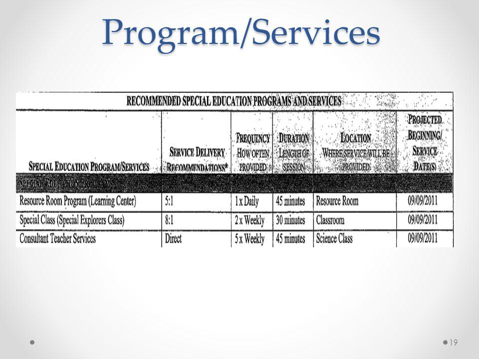 Program/Services