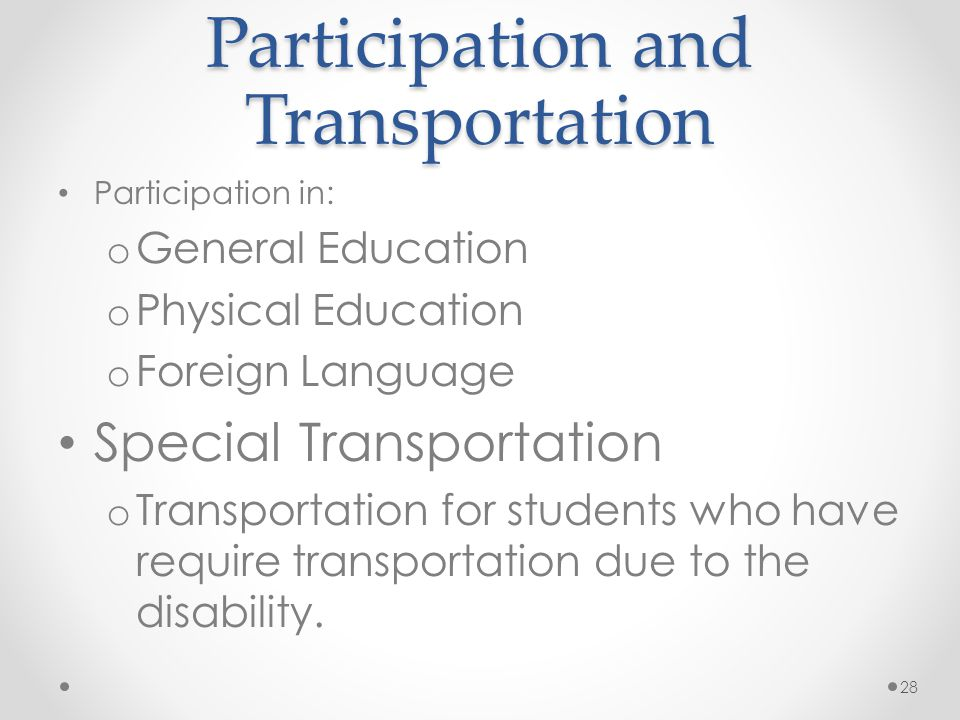 Participation and Transportation
