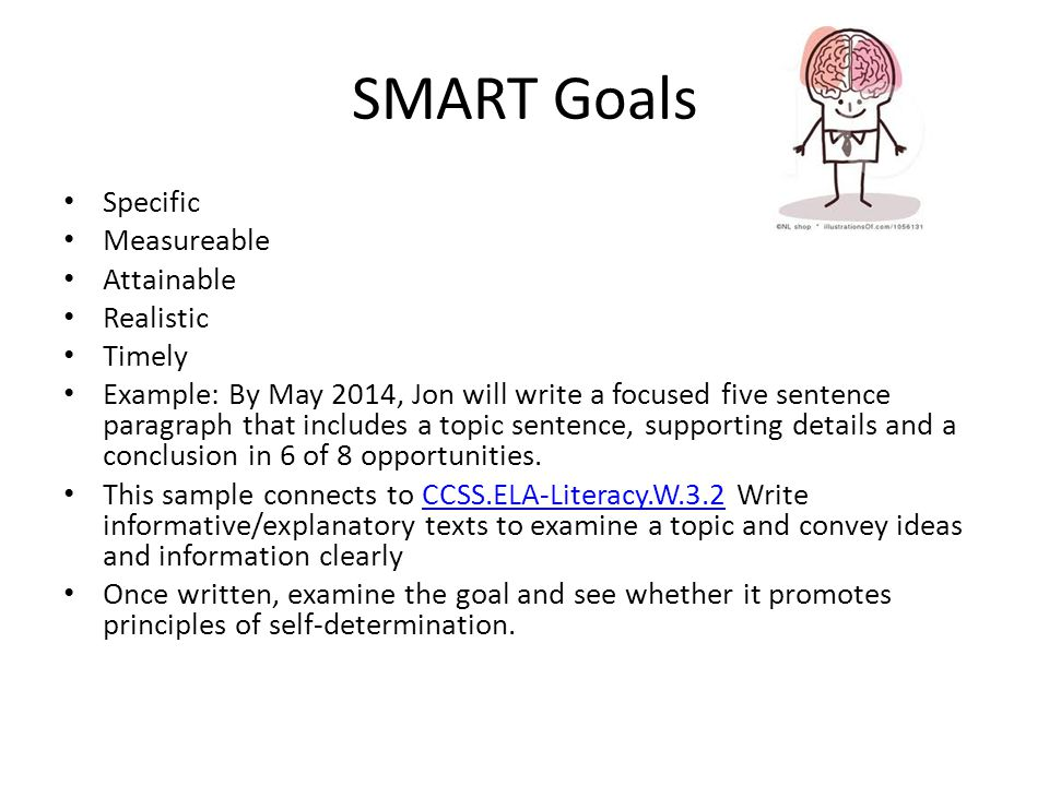 SMART Goals Specific Measureable Attainable Realistic Timely