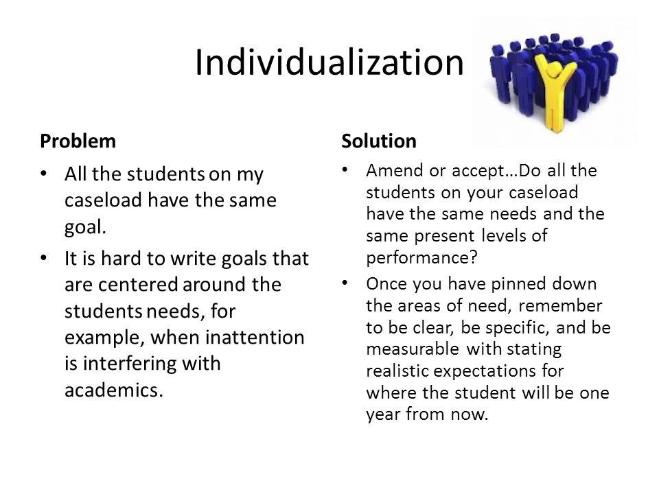 Individualization Problem Solution